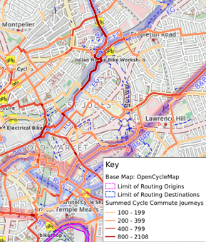 Street level cycle commute journeys